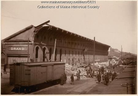 Grand Trunk Railroad Station, Portland, ca. 1900