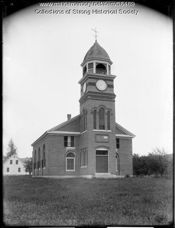Methodist Episcopal Church, Strong, ca. 1905