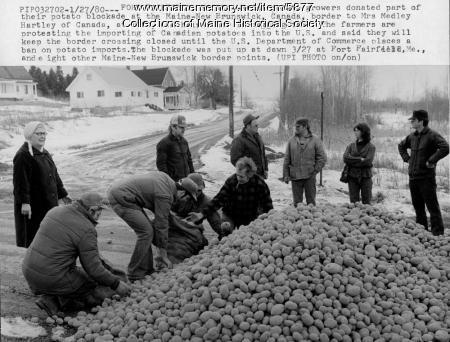 Potato blockade, March 27, 1980