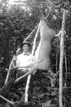 Tom and his buck from Little Blackberry Pond