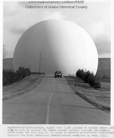 Comsat radome receiver station, Andover