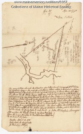 William Patten's land, Topsham, 1771