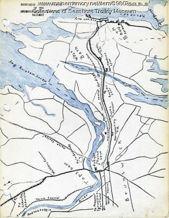 Brunswick to Bath electric railroads, ca. 1937