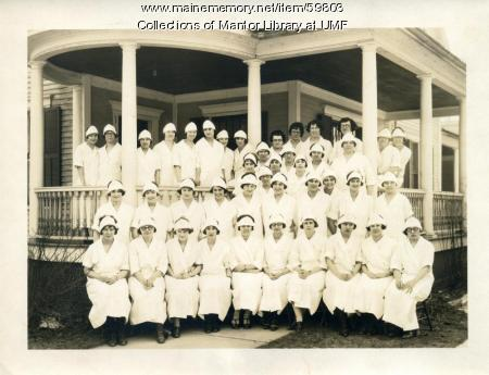 Home Economics class, Farmington State Normal School, ca. 1924