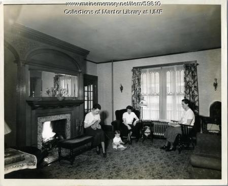 Home Ec Cottage Living Room, Farmington State Normal School, 1936