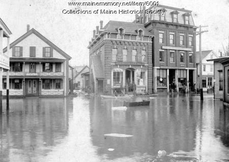 Flood in Mechanic Falls, ca. 1896