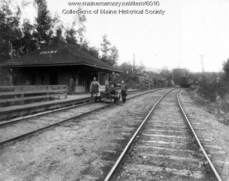 Canadian Pacific Railroad at Onawa, ca. 1900