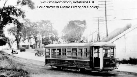 Bangor Hydroelectric #20 street railway, 1939
