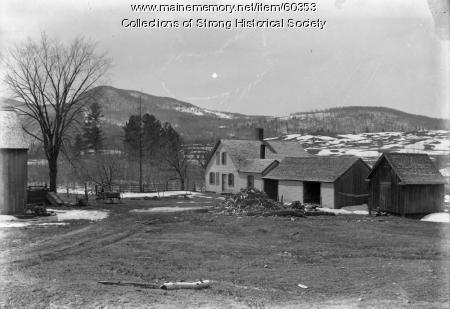 Thomas Richardson farmhouse, Strong, ca. 1890