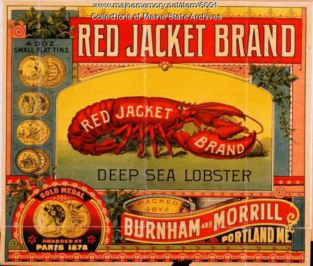 Burnham and Morrill Red Jacket lobster label