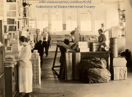 Gannett Publishing Company workroom, Augusta, ca. 1930