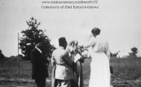 Sarah Farmer with 'Abdu'l-Baha, 1912