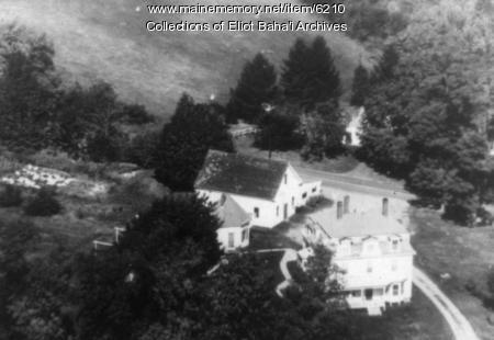 Rosemary cottage from the air, Eliot, ca. 1885