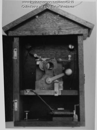 Fire alarm pull box, Eliot, ca. 1860