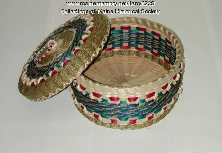 Passamaquoddy basket, Clara and Rocky Keezer