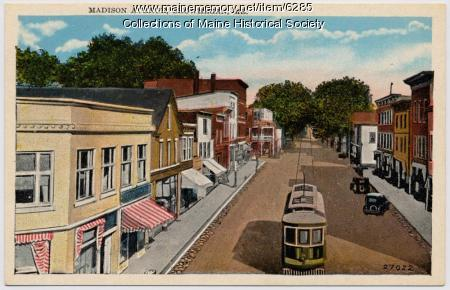 Madison Avenue, Skowhegan, ca. 1930