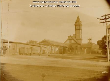 Railroad Station, Skowhegan, ca. 1900
