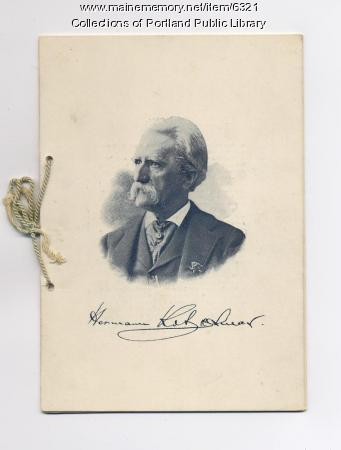 Program from 1899 Kotzschmar Jubilee