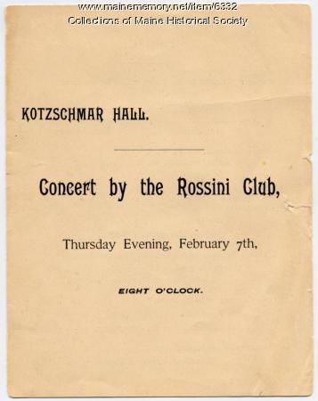 Rossini Club concert program