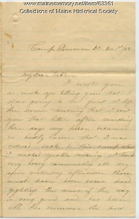Pvt. John Sheahan from Washington, D.C., 1863