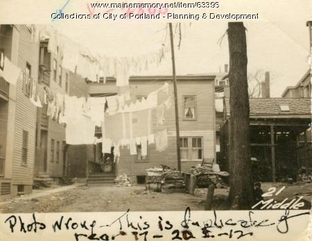 21 Middle Street (rear), Portland, 1924