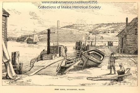 Fort Knox, Penobscot River, 1891