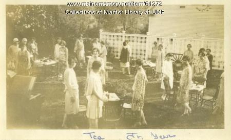 Spring Tea in the Mary Palmer Garden, Farmington State Normal School, 1930