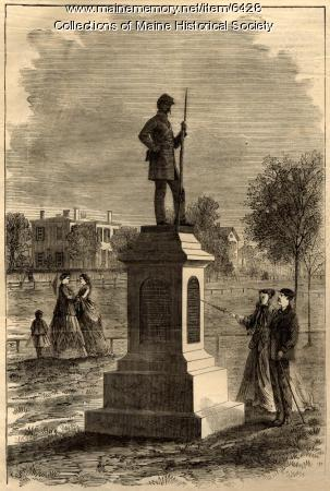Soldiers' monument, Lewiston, 1868