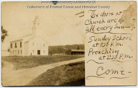 First Parish Congregational Church, Pownal, 1907