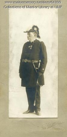 George Purington, Grand Commander of Knights Templars of Maine, ca. 1890