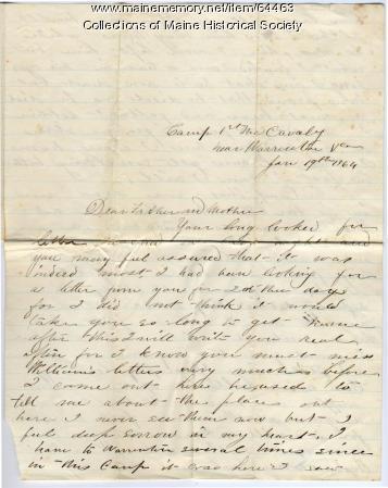 John P. Sheahan on sorrow at brother's death, Virginia, 1864