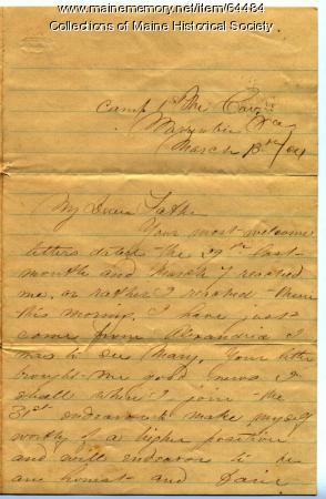 John Sheahan on 31st Infantry, Warrenton, Virginia, 1864