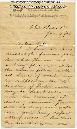 Lt. John Sheahan on army nearing Richmond, 1864