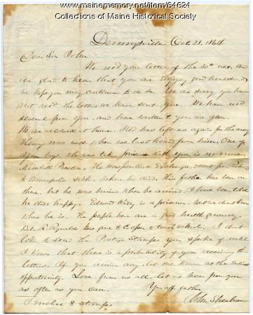 John Sheahan to POW son, 1864
