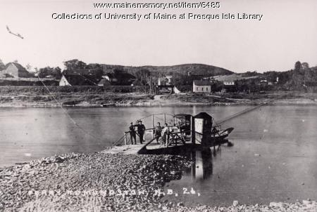 Ferry crossing between Madawaska and Edmundston, 1919