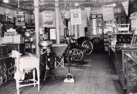 Putnam Hardware store, Houlton, 1908