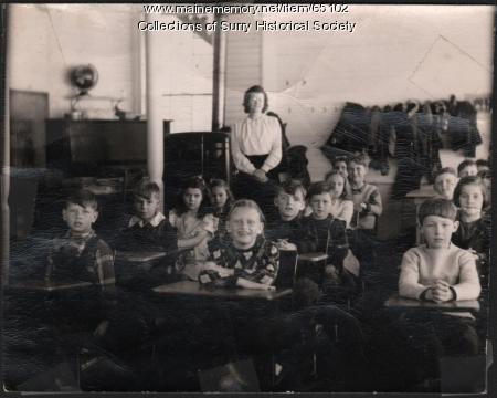 Rich's Corner School, Surry, ca. 1940