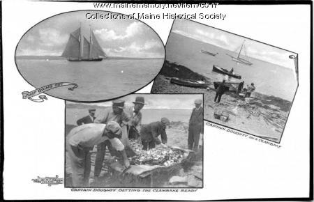 Collage, Capt. Doughty on Orr's Island