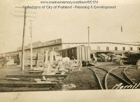 Factory, Morrill Street (rear), Portland, 1924