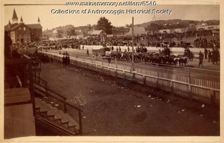 Maine State Fair procession, Lewiston, ca. 1900