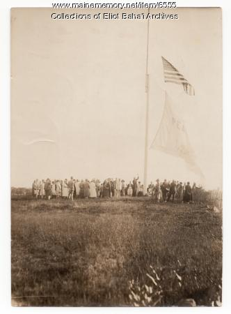 Raising of the Peace Flag, Green Acre, 1926