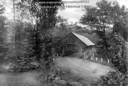 Covered bridge, Bethel, ca. 1940