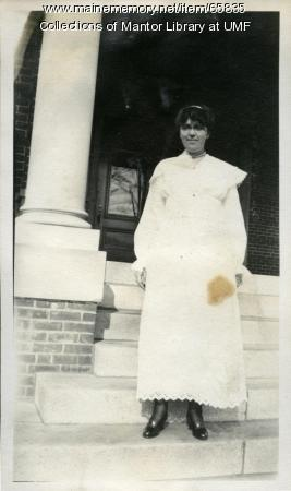 Farmington State Normal School student, Arbor Day, 1917