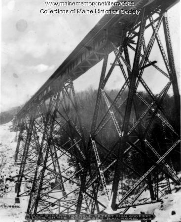 Railroad Bridge, Bingham, ca. 1920