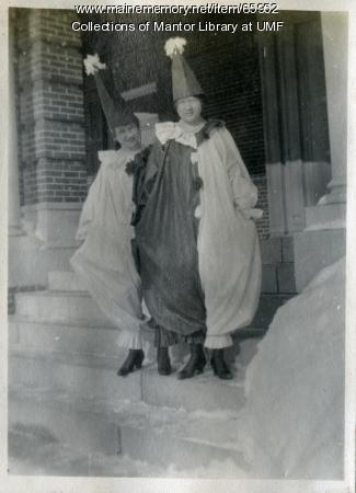 Christian Youth Association masquerade, Farmington State Normal School, ca. 1917