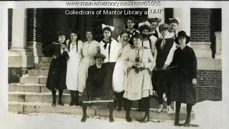 Thanksgiving Costume Party, Farmington State Normal School, 1917