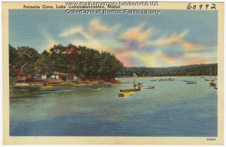 Pernette Cove, Lake Cobbosseecontee, ca. 1935