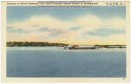 Steamer at Great Diamond Island, ca. 1938