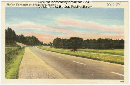 Maine Turnpike at Biddeford, ca. 1950