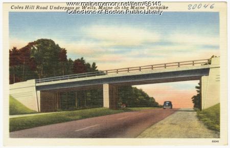 Coles Hill Road underpass, Wells, ca. 1948